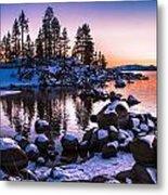 Lake Tahoe Winter Sunset Metal Print