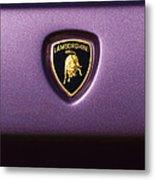 Lamborghini Diablo Se Roadster Emblem Metal Print
