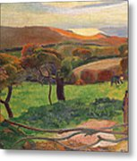Landscape From Bretagne Metal Print