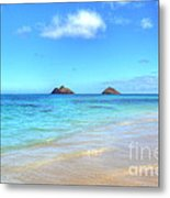Lanikai Beach Oahu Hawaii Metal Print by Kelly Wade