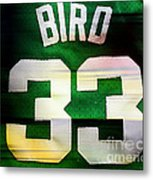 Larry Bird Metal Print by Marvin Blaine