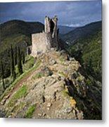 Lastours Castle Metal Print by Ruben Vicente