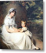 Lawrence's Lady Mary Templetown And Her Eldest Son Metal Print
