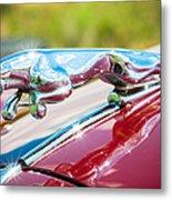 Leaping Jaguar Metal Print