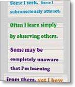 Learning Observation Teacher Student Gratitude Background Designs  And Color Tones N Color Shades Av Metal Print