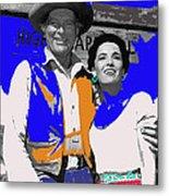 Leif Erickson Linda Cristal The High Chaparral Set Publicity Photo Old Tucson Arizona C. 1967-2012 Metal Print