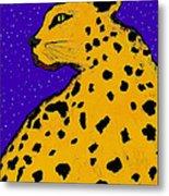 Leopard At Midnight Metal Print