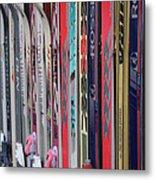 Lets Ski Metal Print