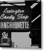Lexington Candy Shop In Black And White Metal Print