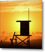 Lifeguard Tower On The Beach, Newport Metal Print