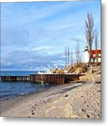 Light And Beach Metal Print