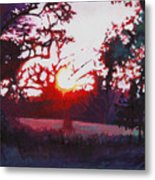 Light Grounding Metal Print