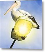 Light Pelican Metal Print