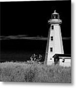 Lighthouse At North Cape On Pei Metal Print