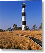 Lighthouse In A Field, Bodie Island Metal Print