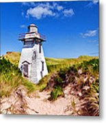 Lighthouse On The Dunes Metal Print