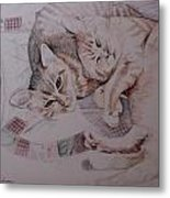 Lilly And Maddie Metal Print by Kathy Weidner