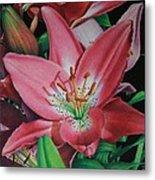 Lily's Garden Metal Print