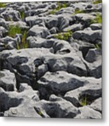Limestone In The Burren Metal Print