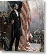 Lincoln Independence Hall Metal Print