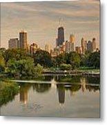 Lincoln Park Lagoon Chicago Metal Print