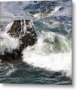 Linda Mar Beach Surf Metal Print