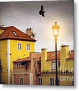 Lisbon Houses Metal Print