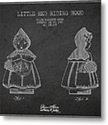 Little Red Riding Hood Patent Drawing From 1943 Metal Print