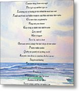 Live One Day At A Time Metal Print