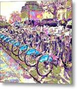 London Bikes Metal Print