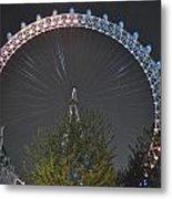London Eye At Night Metal Print