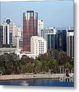 Long Beach Skyline Metal Print