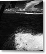 Looking Out Of Seaplane Window Landing On The Water Next To Fort Jefferson Garden Key Dry Tortugas F Metal Print