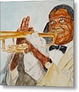 Louis Armstrong 2 Metal Print by Katie Spicuzza
