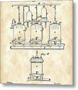 Louis Pasteur Beer Brewing Patent 1873 - Vintage Metal Print