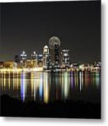 Louisville With The Moon Metal Print