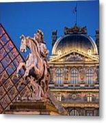Louvre Twilight Metal Print