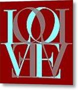 Love Typography Metal Print