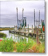 Lowcountry Shrimp Dock Metal Print