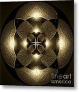 Luminous Mandala Metal Print