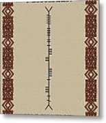 Macateer Written In Ogham Metal Print