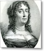 Madeleine De Scudery  French Writer Metal Print