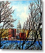 Madison Treed Metal Print