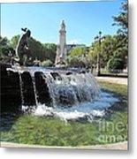 Madrid Fountain Metal Print