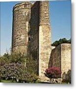 Maidens Tower In Baku Azerbaijan Metal Print