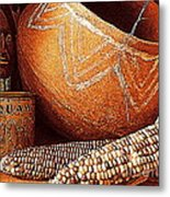 New Orleans Maize The Indian Corn Still Life In Louisiana  Metal Print