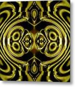 Mambo In Gold And Red Metal Print