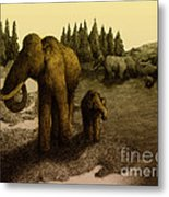 Mammoths Metal Print