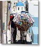 Man And His Pack Mule Metal Print