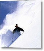 Man Skiing In Colorado Metal Print
